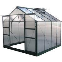 Invernadero para jardín en policarbonato Dahlia verde pino 6,15 m²