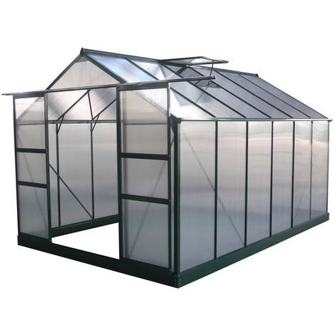 Invernadero para jardín en policarbonato Dahlia verde pino 7,67 m²