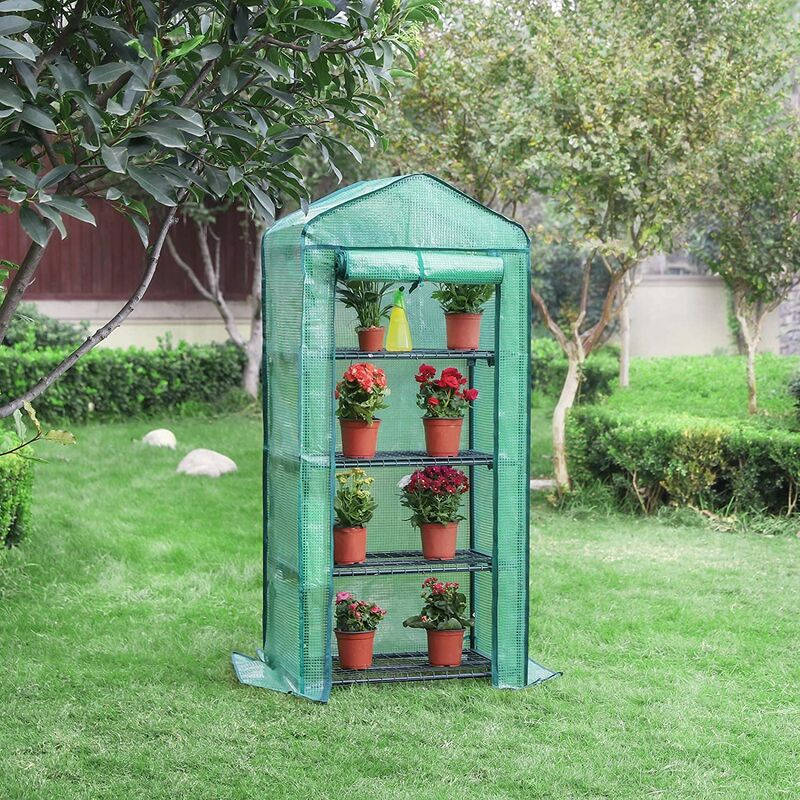 69 x 49 x 158 cm GWP04L SONGMICS Invernadero de 4 Niveles para Tomates