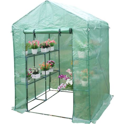 Invernadero para tomates Petunia- - 2.04m² - 1.43 x 1.43 x 1.95 m