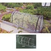 Invernadero plastico transparente forma tunel 130x60x50cm