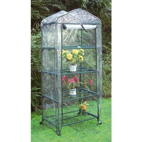 Invernadero PVC 4 Estantes 156x68x49 cm