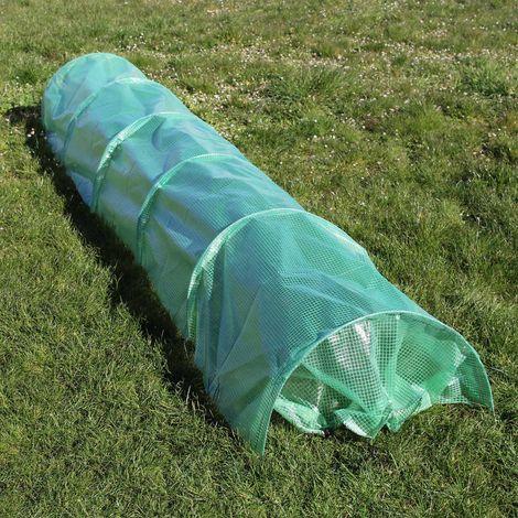 Invernadero tipo tunel de plástico 300x65x45cm Tunel plantas Caseta cultivo Vivero lámina PE Jardín