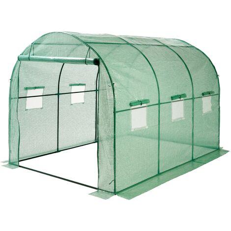 """main image of """"Invernadero túnel de jardín 6m² 3x2x2m 6m² verde para cultivo plantas semillas"""""""