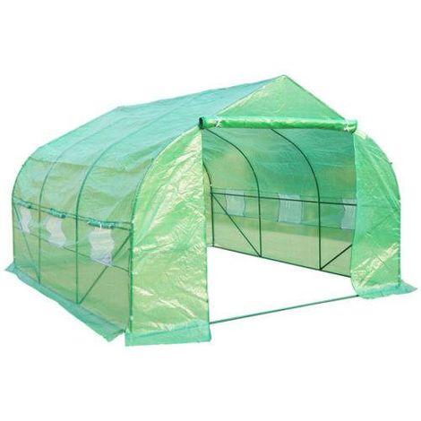 Invernadero verde con mosquitera 3,5 x 3 x 2 m