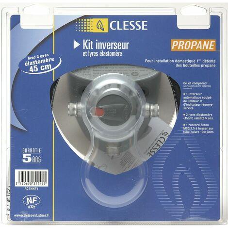 Inverseur automatique de bouteille 1ère détente haute pression gaz Propane - Entrée : M.M20x1,5 - Sortie : Braser 12