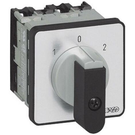 Inverseur BACO BANC01GQ1 16 A 2 x 30 ° gris, noir 1 pc(s)