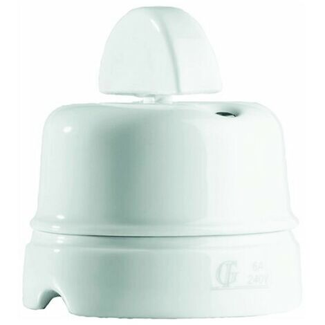 Inverseur Gambarelli rotary porcelaine blanche bianca10A 00110