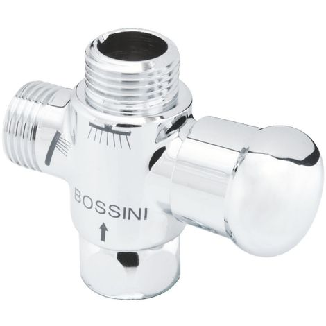 Inverseur laiton chromé - MF 1/2' - Bossini