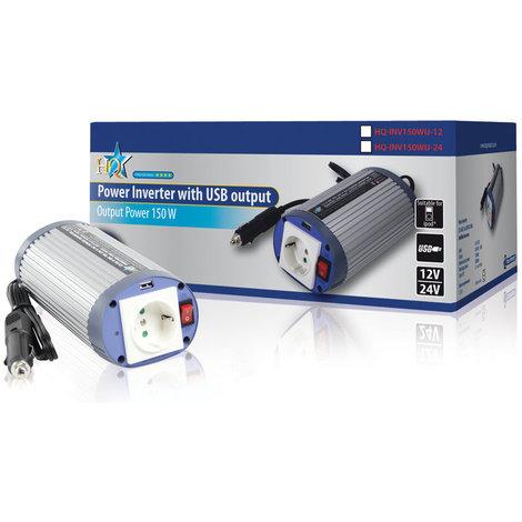 Inversor 24 - 230 V 150 W con USB HQ