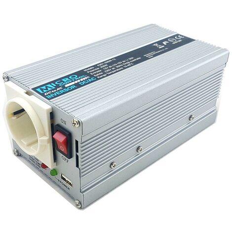 Inversor Corriente 12vdc A 230vac 300w + Usb Onda Modificada A301-300w-12v-usb