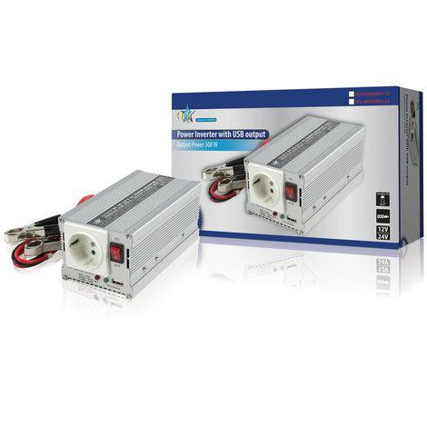 Inversor de 24 V – 230 V 300 W + USB para batería de automóvil o barco HQ