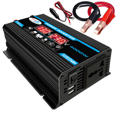 "main image of ""Inversor de coche digital inteligente 4000W, convertidor de onda sinusoidal"""