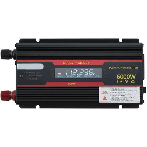 Inversor de energia solar convertidor de onda sinusoidal modificada,6000W, 12V a 220V