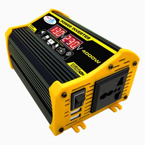 Inversor de onda sinusoidal modificada, convertidor DC 12V a AC 220V, con puerto USB dual 2.1A