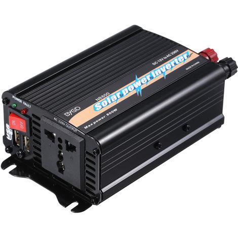 Inversor de onda sinusoidal modificada de 800 W, convertidor de CC 12V a CA 220V-240V