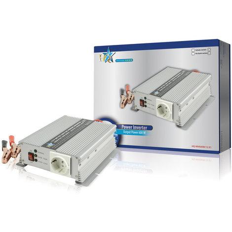 Inversor para batería de 12 Voltios – 230 Voltios. 600 W HQ