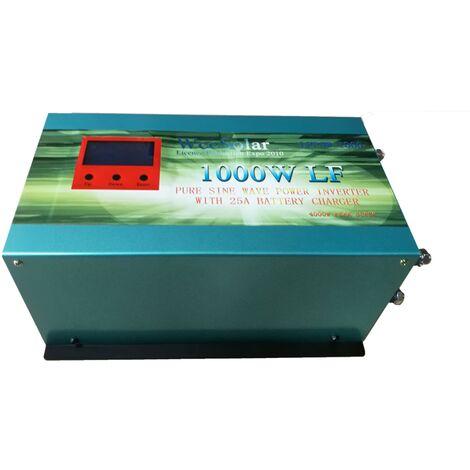 Inversor solar 1000w 12v Onda pura / Cargador 25Ah WccSolar