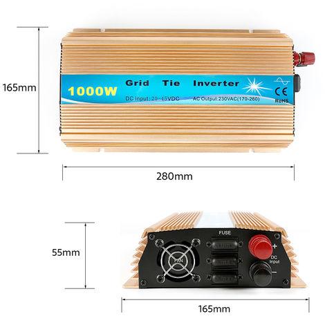 Inversor solar 1000W 230V dorado (voltaje de entrada 20-45v)