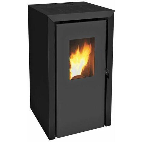 INVICTA Bassano 5 kw Poele a granules modulable de 2,9 a 5,8 kW - Rendement 93 % - Autonomie 8 h - Flamme Verte 7* - Noir