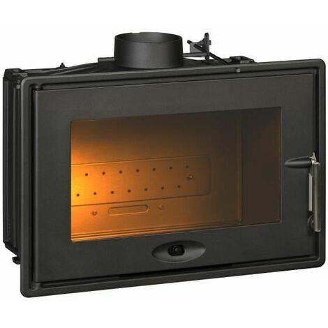 INVICTA Foyer 700 - 7 kW - Fonte - Optimise avec volet - Buches 53 cm - Rendement : 76 % - Flamme verte 6* - Fabrique en FRANCE