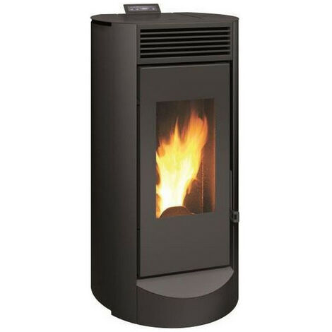 INVICTA Lodi 10 - Poele a granulés modulable de 2,5 a 10 kW - Acier - Rendement : 86 % - Autonomie : 7-27h - Flamme verte 6* …