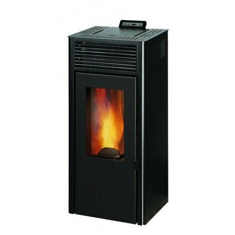 INVICTA Nola 7 - Poele a granules modulable de 2,5 a 7 kW - Acier - Rendement : 86 % - Autonomie : 27 h - Flamme verte 6* - Noir