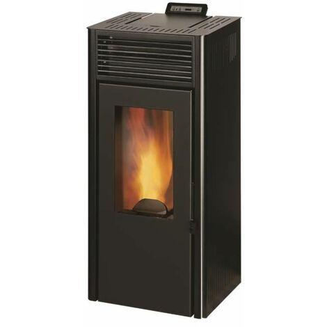 INVICTA Nola 8 - 8 Kw - Poele a granules etanche modulable de 3,1 a 8 kW - Acier - Rendement : 90 % - Flamme verte 7* - Noir