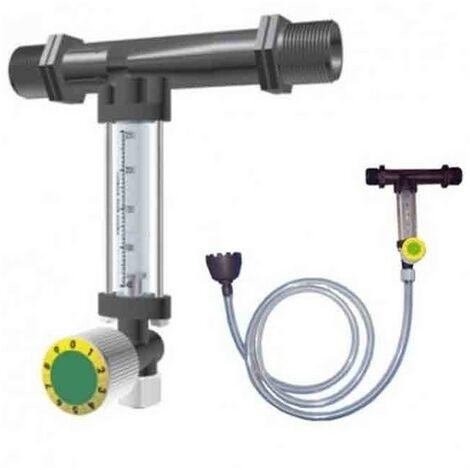 """main image of """"Inyector de fertilizante 32Ø 9mm con llave y caudalímetro venturi"""""""
