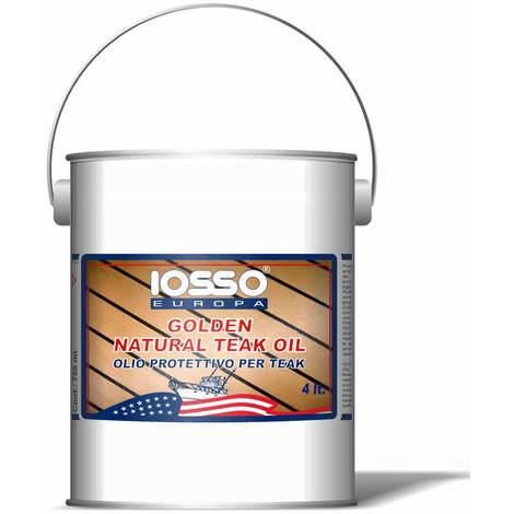 Iosso golden natoral teak oil olio per teak litri 4