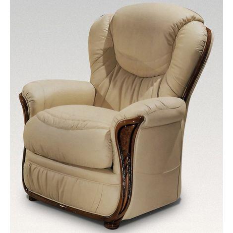 Iowa Armchair Genuine Italian Cream Leather Sofa Settee Offer