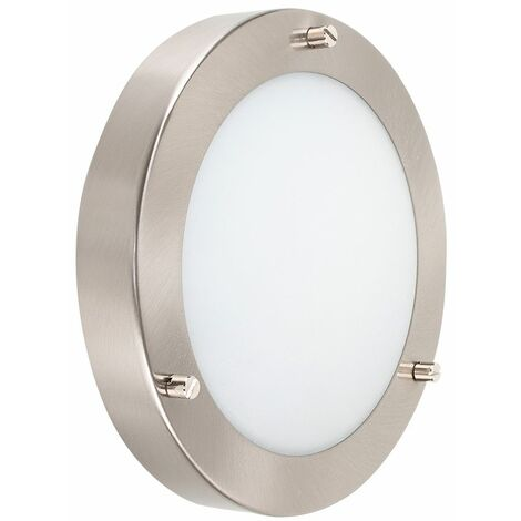 Ip44 Chrome Glass Flush Bathroom Ceiling Light Zone 1 2 3 - Silver