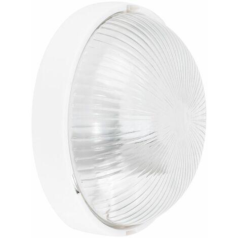 Ip44 White Round Flush Bathroom Ceiling Light Lighting Zone 2 3