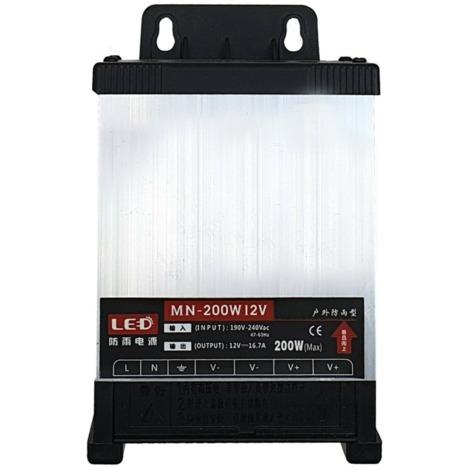 IP45 Outdoor Rainproof DC 12V - AC 240V LED Driver 200W