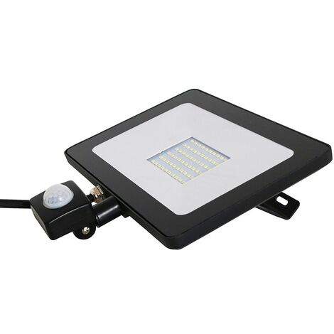 Ip65 50W LED Dusk To Dawn Outdoor Security Floodlight - Neutral White - Black