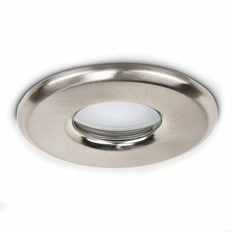 IP65 Bathroom Ceiling Downlight - Brushed Chrome - Silver
