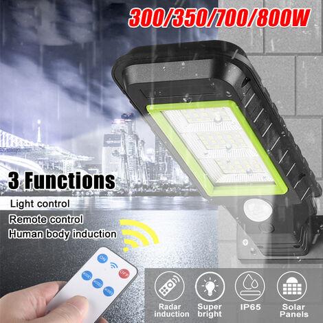 IP65 Panel solar LED impermeable Luz de calle Radar Inducción Sensor de movimiento Lámpara de pared solar + Control remoto (72LED)