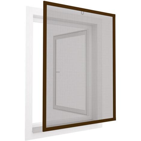 braun oder anthrazit 80 x 100 cm Insektenschutz Fliegengitter Fenster Basic Alurahmen wei/ß