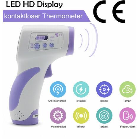 IR Infrarot Fieberthermometer Stirnthermometer Babys Erwachsene Temperaturmessgerät für Körper/ Oberfläche Berührungslos