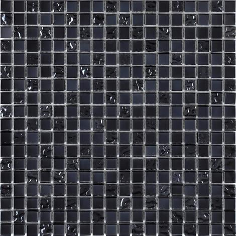 Iradescent Glass Mosaic Wall Tiles Bathroom Basin Lusterous Black MT0098
