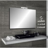 Irina - specchio reversibile da bagno filo lucido 90x60 cm con lampada led 5w