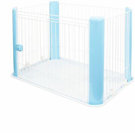 Iris Ohyama. parc pour chien / cage d'extérieur / enclos / chenil avec toit - Pet Circle - CLS-960. bleu. 7.3 kg. 92 x 63 x 60 cm