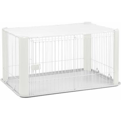 Iris Ohyama. parc pour chien / cage d'extérieur / enclos / chenil - Pet Circle - CLS-1130. plastique. blanc. 9.2 kg. 78.8 x 113 x 60 cm