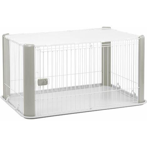 Iris Ohyama. parc pour chien / cage d'extérieur / enclos / chenil - Pet Circle - CLS-1130. plastique. gris. 9.2 kg. 78.8 x 113 x 60 cm