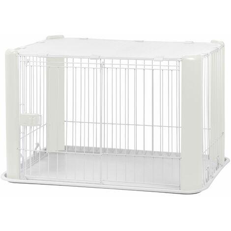 Iris Ohyama. parc pour chien / cage d'extérieur / enclos / chenil - Pet Circle - CLS-960. plastique. blanc. 7 kg. 92 x 63 x 60 cm