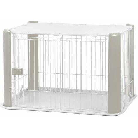 Iris Ohyama. parc pour chien / cage d'extérieur / enclos / chenil - Pet Circle - CLS-960. plastique. gris. 7 kg. 92 x 63 x 60 cm