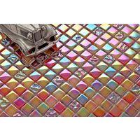 Glas Mosaik Fliesen Matte in Grau Texturiert Lava Baustein Effekt MT0121