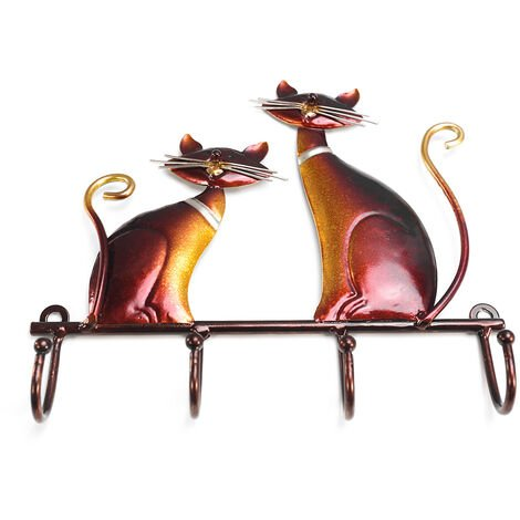 Iron cat wall hanger decoration gifts