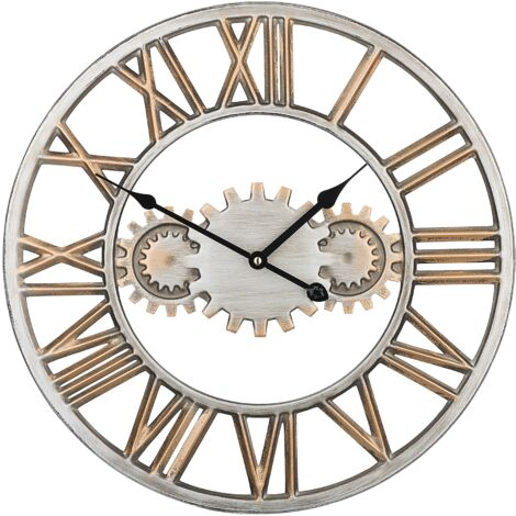 Iron Wall Clock Silver and Gold SEON