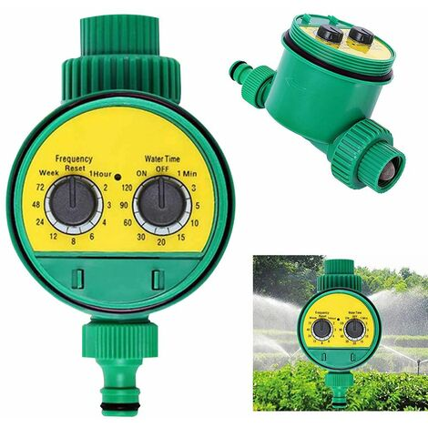 Irrigation computer watering clock for automatic watering garden water timer computer with ball valve